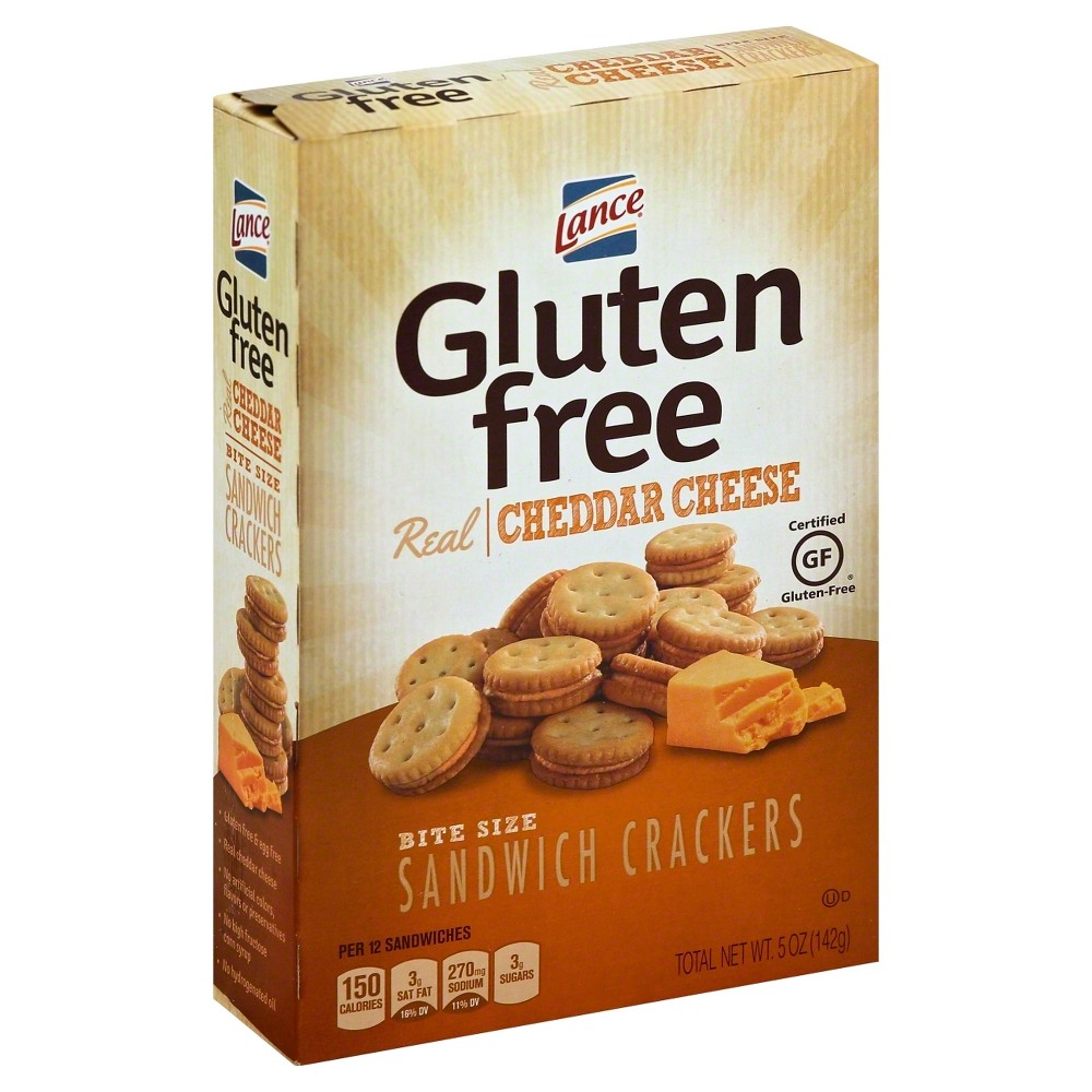 Lance Real Cheddar Cheese Bite Size Sandwich Crackers - 5oz