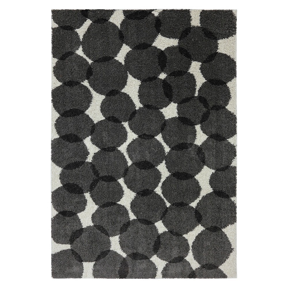 "Image of ""5'x7' Memphis Shag Area Rug Black/White - Mohawk, Size: 5'3""""x7'10"""""""