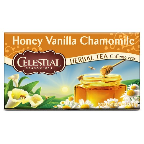 Celestial Seasonings Honey Vanilla Chamomile Caffeine-Free Herbal Tea - 20ct - image 1 of 1