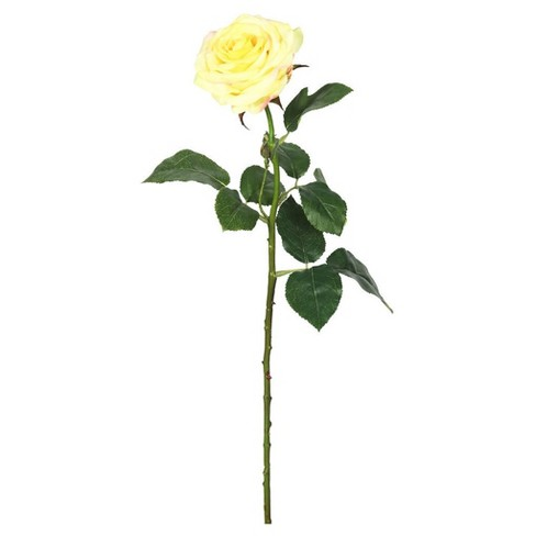 """Artificial Real Touch Rose 3pk Yellow 27"""" - Vickerman - image 1 of 1"""