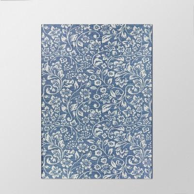 9' x 12' Floral Outdoor Rug Blue - Smith & Hawken™