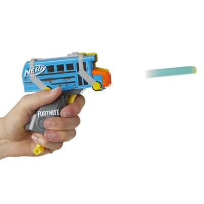 NERF Fortnite Micro Battle Bus Nerf MicroShots Dart-Firing Toy Blaster