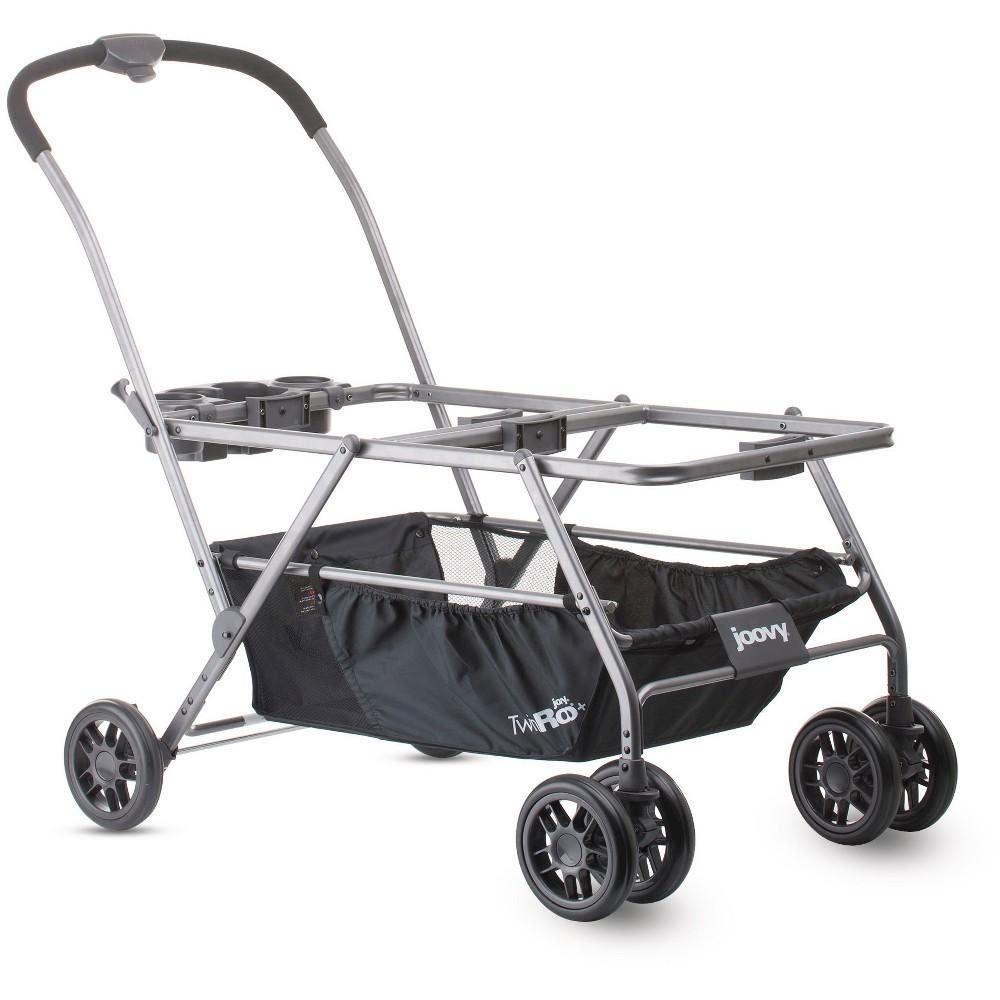 JOOVY Twin Roo+ Infant Car Seat Stroller Frame, Black
