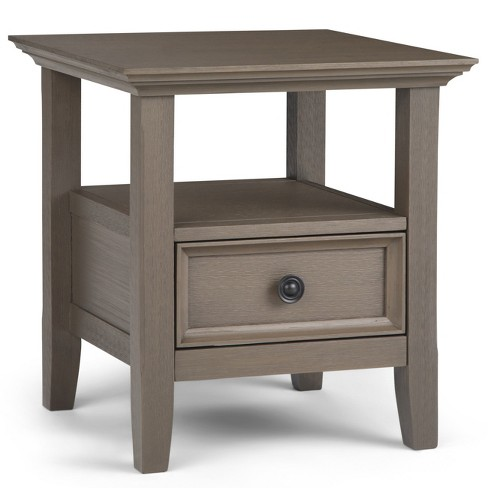 Halifax Solid Wood End Table Farmhouse Gray - Wyndenhall - image 1 of 4