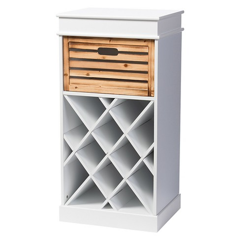 Rochefort British Colonial Clical Country Style 3 Drawer Storage Cabinet White Natural Baxton Studio
