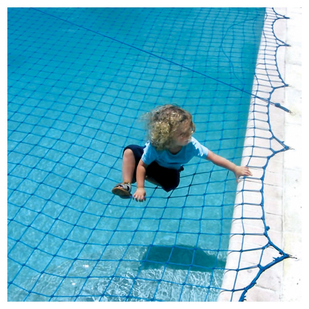 WaterWarden Pool Safety Net for In Ground Pool up to 18' x 36', Blue