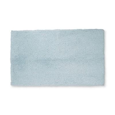 34 x20  Tufte Spa Bath Rug Light Blue - Fieldcrest®
