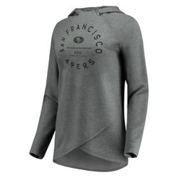 NFL San Francisco 49ers Women's Victory Circle Gray Lightweight Hoodie