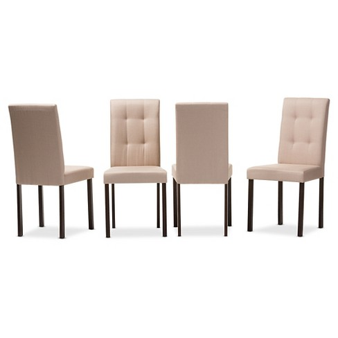 Andrew Modern and Contemporary Fabric Upholstered Grid-tufting Dining Chair (Set of 4) - image 1 of 2