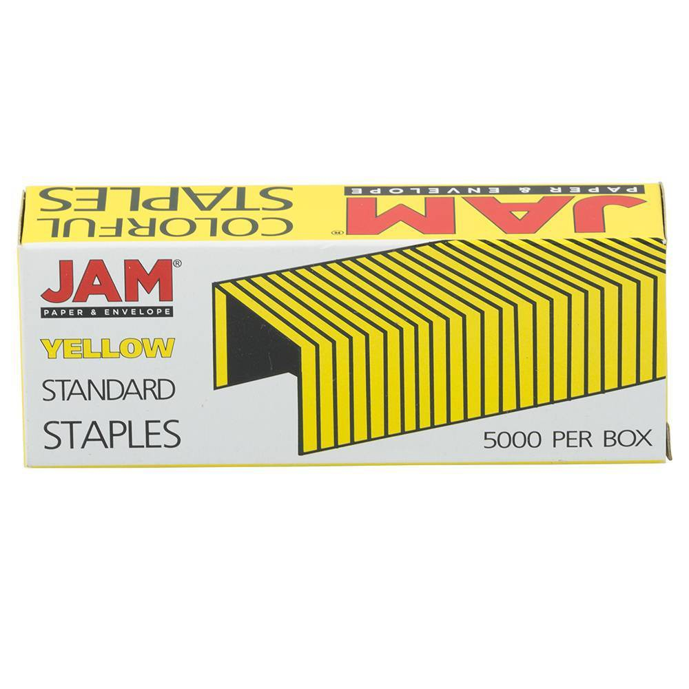 Jam Paper 5000ct Standard Size Colorful Staples Bright Yellow