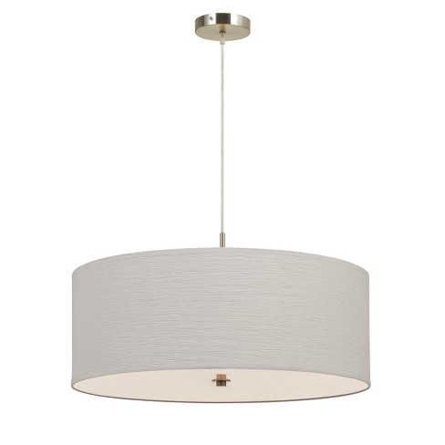 "Nianda Drum Pendant Fixture Off White 6.75""x15.4"" - Cal Lighting - image 1 of 2"
