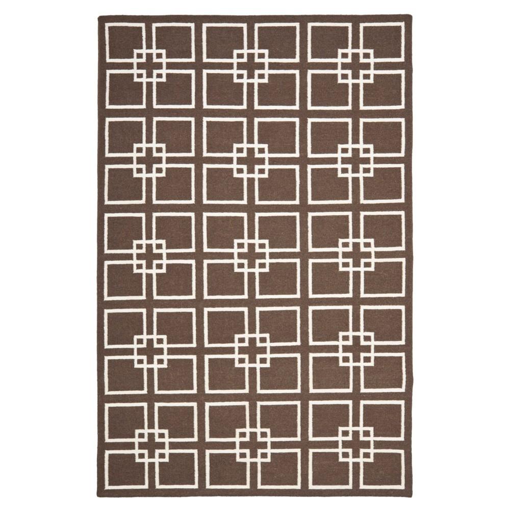Natural Fiber Rug - Natural/Dark Gray - (2'6x4') - Safavieh, Dark Brown