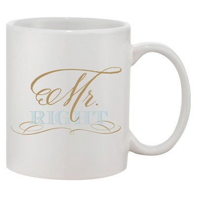 Mr. Right Blue Coffee Mug