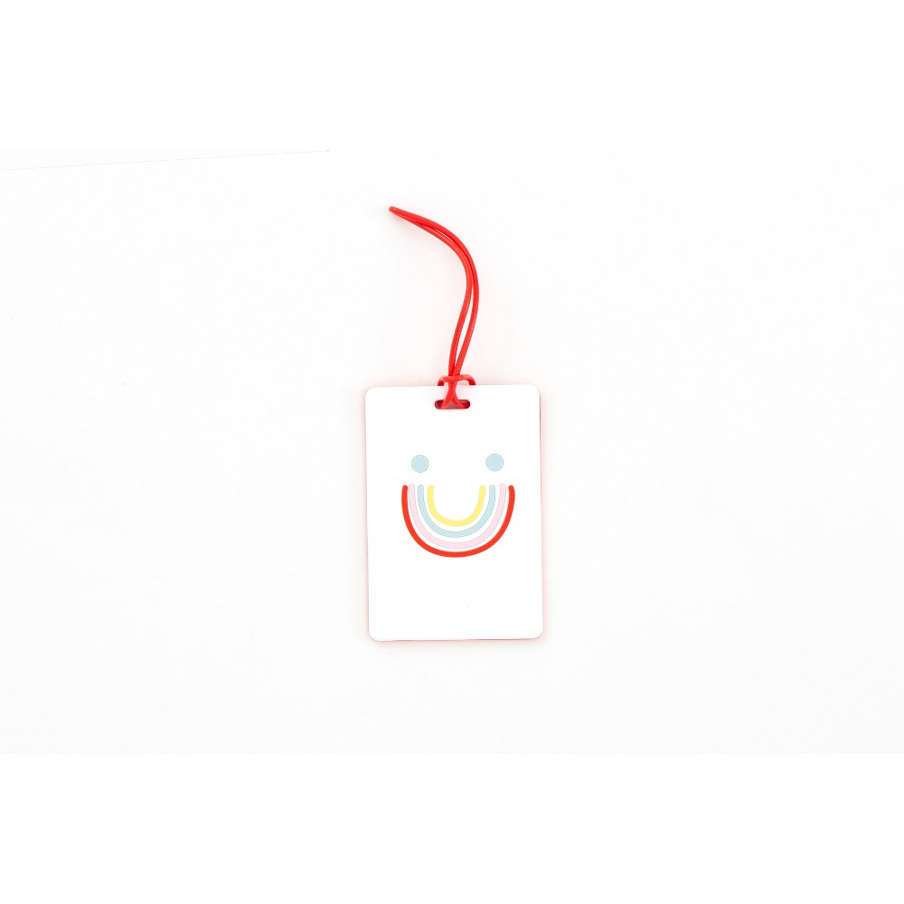 Image of Path Luggage Tag - Rainbow Smiley, MultiColored