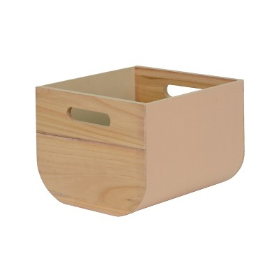 8 x10  Paulownia Wood with Solid Color Fabric Small Milkcrate Whipped Peach - Project 62™