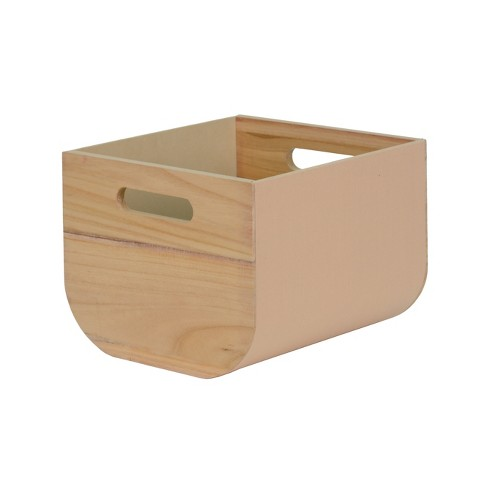 "8""x10"" Paulownia Wood with Solid Color Fabric Small Milkcrate Whipped Peach - Project 62™ - image 1 of 1"