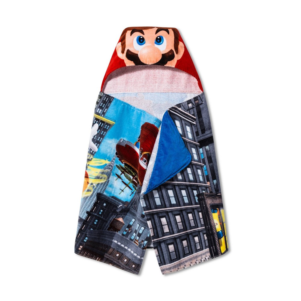 Image of Super Mario Move The Globe Hooded Bath Towel