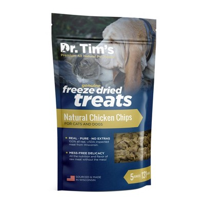 Dr. Tim's Pet Food Freeze Dried Chicken Chips - 5oz
