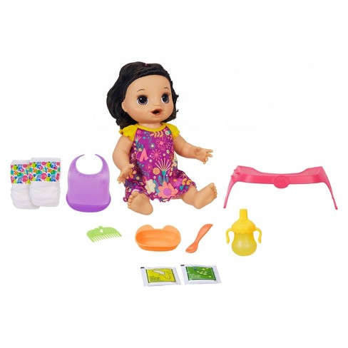 Baby Alive Happy Hungry Baby Doll - Black Straight Hair - image 1 of 4