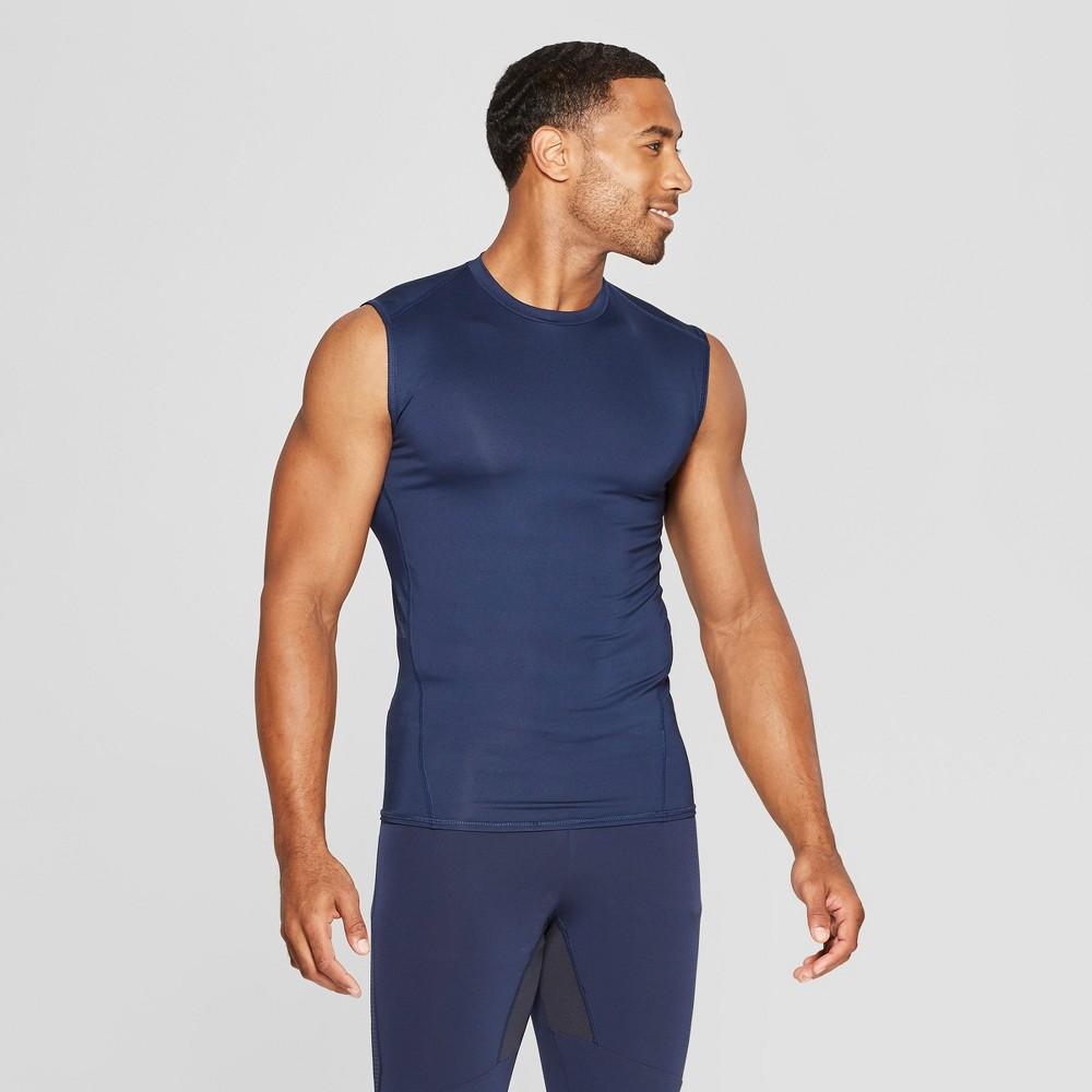 Men's Sleeveless Fitted Compression T-Shirt - C9 Champion Dark Night Blue L