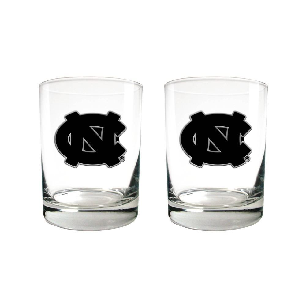 Ncaa North Carolina Tar Heels Stealth 16oz Glass Set 2pk