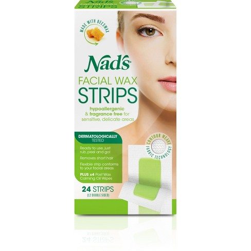 Nad S Facial Wax Strips 24ct Target