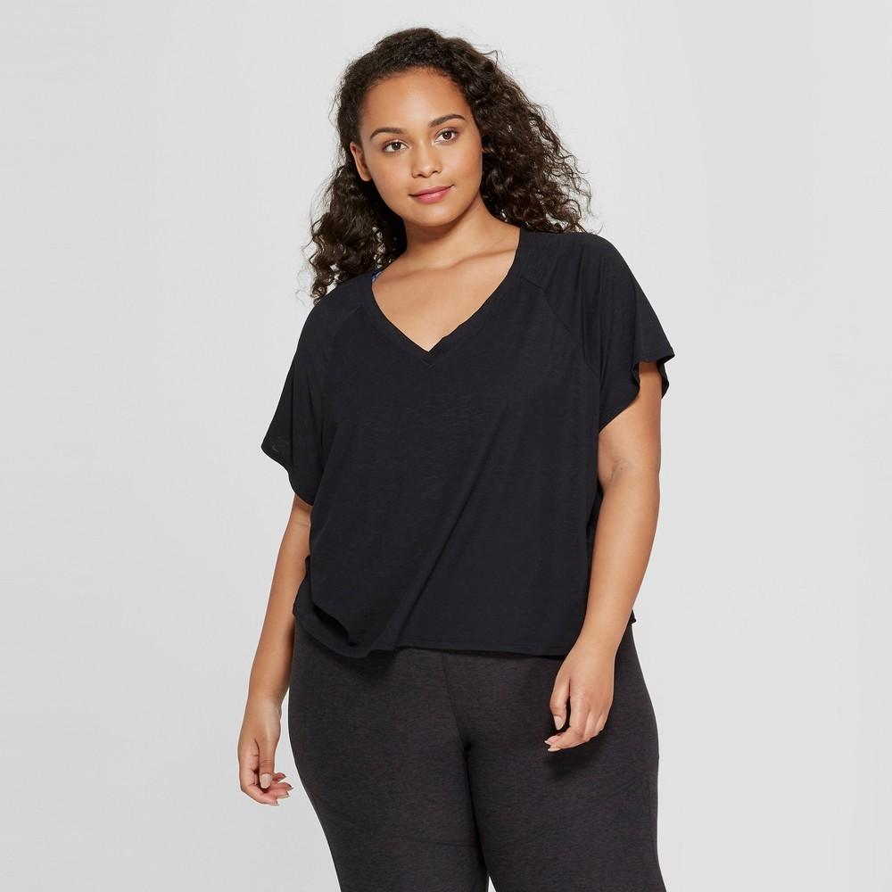 Women's Plus Size Lightweight Active T-Shirt - JoyLab™ Black 1X