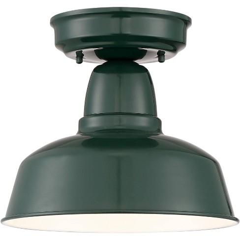 """John Timberland Rustic Outdoor Ceiling Light Fixture Urban Barn Dark Green 10 1/4"""" for Exterior House Porch Patio - image 1 of 4"""