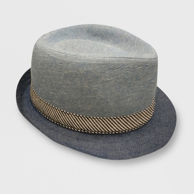 Toddler Boys' Body Chambray Fedoras - Cat & Jack™ Blue 2T-5T
