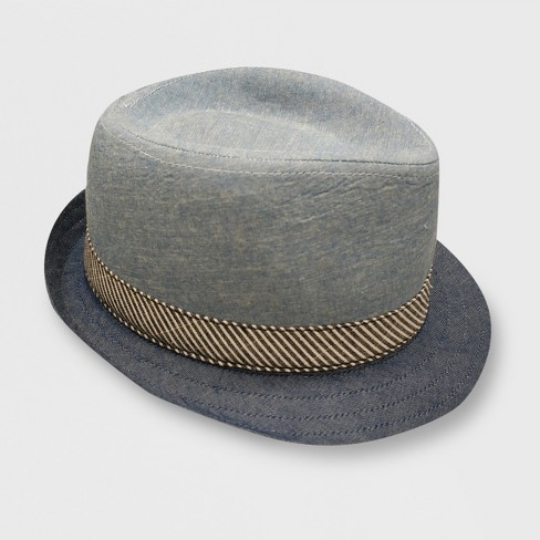 Toddler Boys' Body Chambray Fedoras - Cat & Jack™ Blue 2T-5T - image 1 of 2