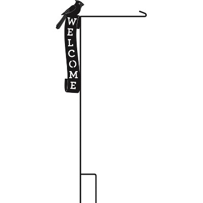 Evergreen Flag Cardinal Welcome Laser Cut Garden Flag Stand Durable Outdoor Flag Hardware For Homes and Gardens