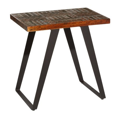 Contemporary Mango Wood Rectangular Accent Table Brown - Venus Williams Collection