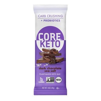 CORE KETO Plant-Based Dark Chocolate Sea Salt Bar - 1.4oz