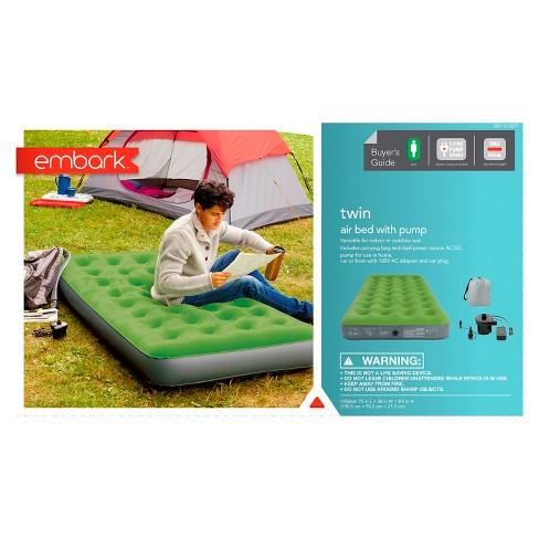 air mattress pump target Single High Twin Air Mattress with Pump   Embark™ : Target air mattress pump target