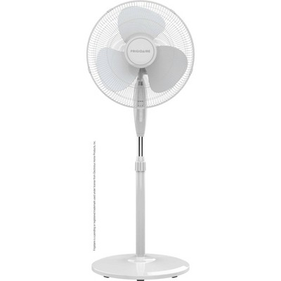 """Frigidaire 16"""" Deluxe Pedestal Fan with Remote Control White"""
