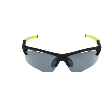 987199c868 Mens Ironman Ironflex Polarized Wrap Blade Sport Sunglasses – Black ...