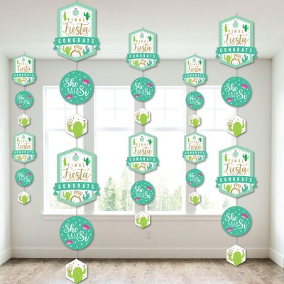 Big Dot of Happiness Final Fiesta - Last Fiesta Bachelorette Party DIY Backdrop - Hanging Vertical Decorations - 30 Pieces