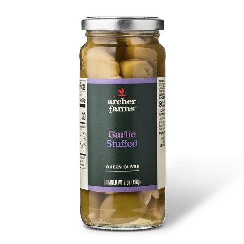 Garlic Stuffed Queen Olives 7oz - Archer Farms™ - image 1 of 1