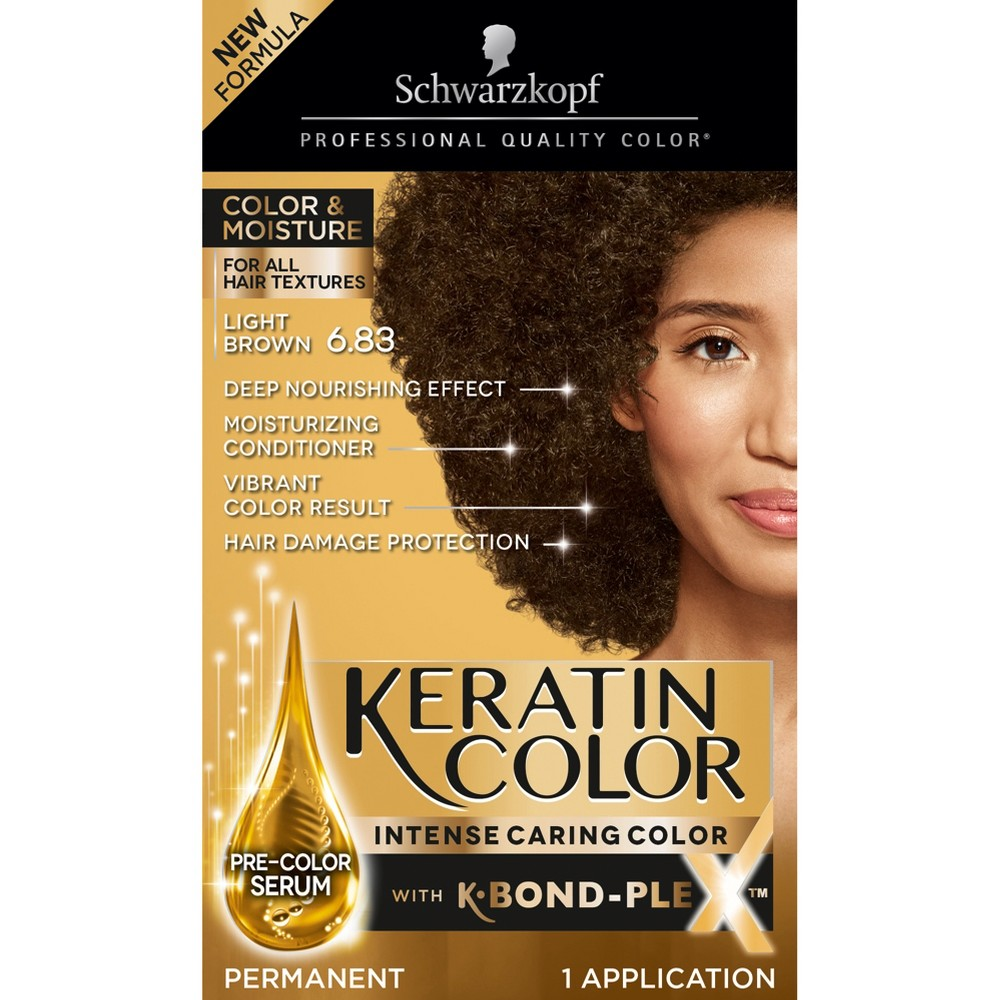 Image of Schwarzkopf Keratin Color Light Brown Permanent Hair Color - 6.2oz