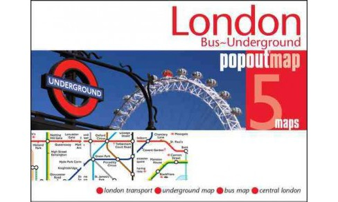 London Bus & Underground Popout Map (Paperback) - image 1 of 1