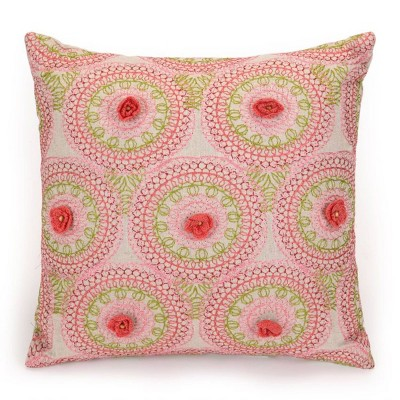 Amrita Medallion Embroidered Decorative Throw Pillow - Jessica Simpson