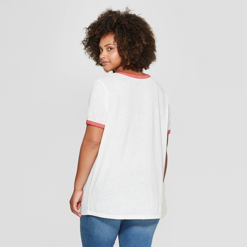 997bfb68e4a Women s Stranger Things Plus Size Short Sleeve Character Graphic T-Shirt ( Juniors ) White 3X   Target