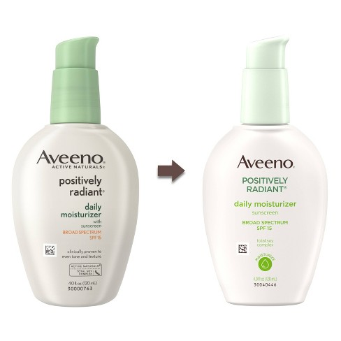 0226b802609 Aveeno Positively Radiant Daily Face Soy Moisturizer - SPF 15 - 4 Fl Oz :  Target