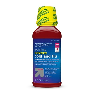 Severe Nighttime Cold & Flu Liquid - Berry - 12 fl oz - up & up™