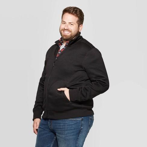 Men's Big & Tall Standard Fit Full Zip Sweater Fleece Jacket - Goodfellow & Co™ - image 1 of 3