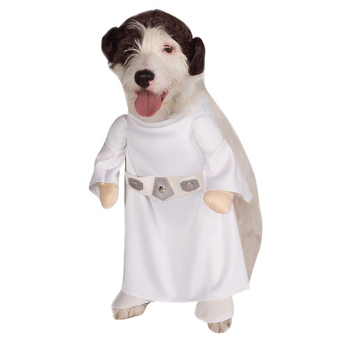 Star Wars Princess Leia Dog and Cat Costume - White - image 1 of 1
