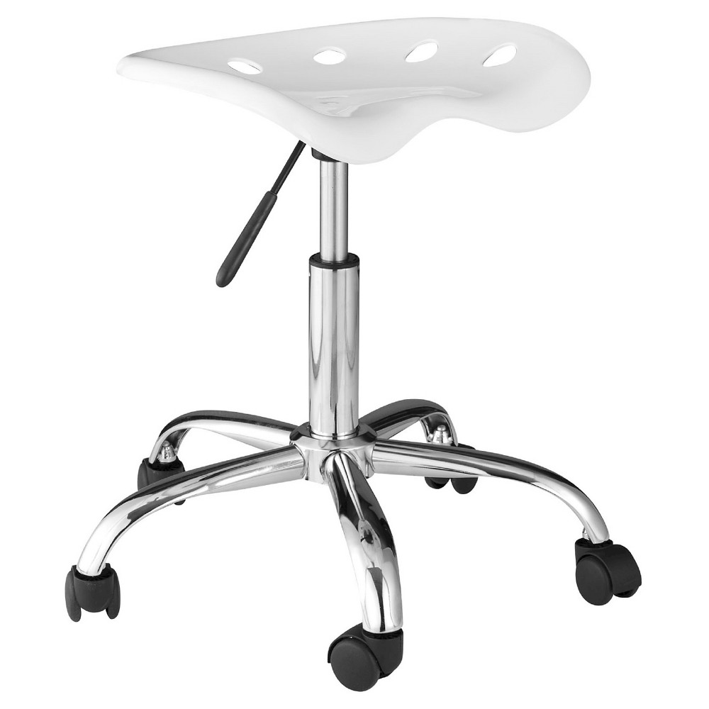 Onespace 60 101401 Computer Task Chair With Tractor Seat White