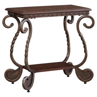Rafferty Chairside End Table Dark Brown - Signature Design by Ashley