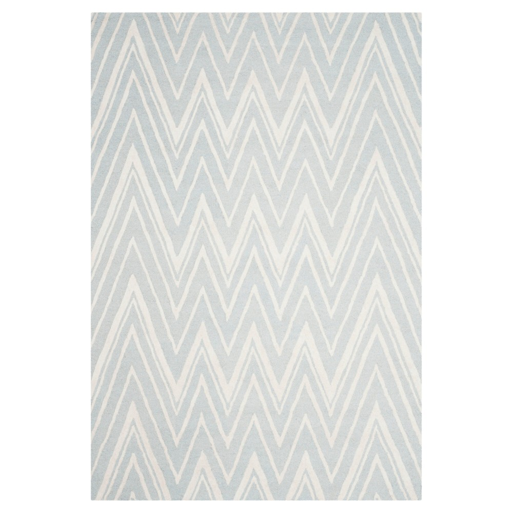 Burton Textured Area Rug Gray Ivory 6 39 X9 39 Safavieh