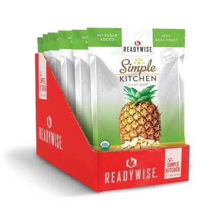 ReadyWise Simple Kitchen Organic Freeze Dried Pineapple - 7.2oz/6ct